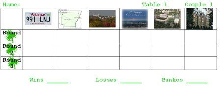 Bunko Sheets with different views of Fayetteville, Arkansas