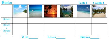 Beach Scenes Bunko Sheets