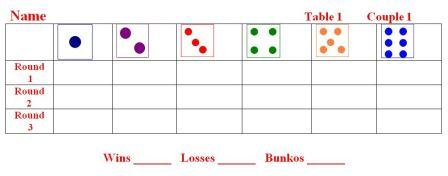 Dice Bunko Sheets