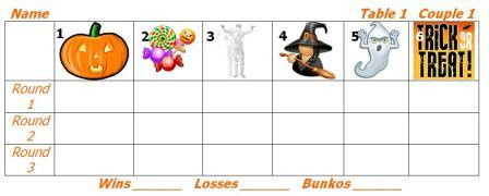 Halloween Bunko Sheets