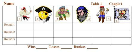 Pirate Bunko Sheets